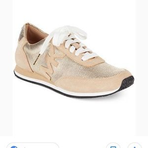 Michael Kors gold Stanton Trainer athletic shoes